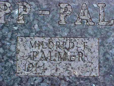 PALMER, MILDRED F. - Pottawattamie County, Iowa | MILDRED F. PALMER