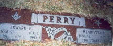 PERRY, HENRIETTA FREDERICKA - Pottawattamie County, Iowa | HENRIETTA FREDERICKA PERRY