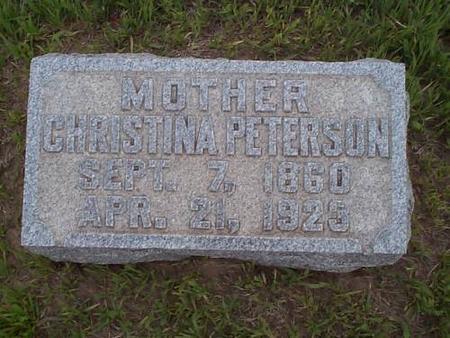 PETERSON, CHRISTINA - Pottawattamie County, Iowa   CHRISTINA PETERSON