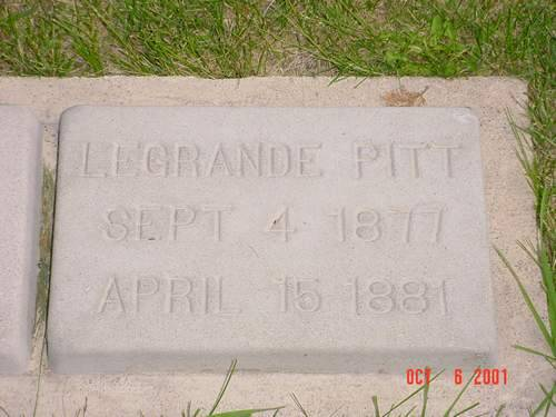 PITT, LEGRANDE - Pottawattamie County, Iowa | LEGRANDE PITT