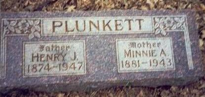 PLUNKETT, MINNIE A. - Pottawattamie County, Iowa | MINNIE A. PLUNKETT