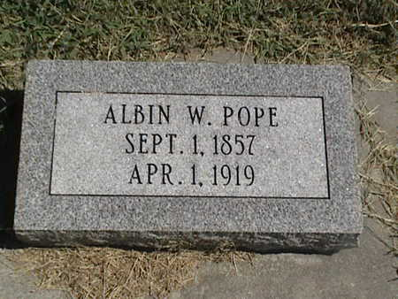 POPE, ALBIN W. - Pottawattamie County, Iowa | ALBIN W. POPE