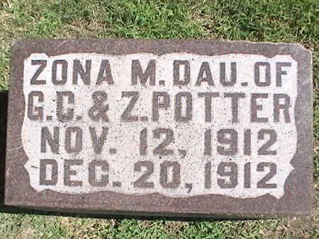 POTTER, ZONA M. - Pottawattamie County, Iowa | ZONA M. POTTER