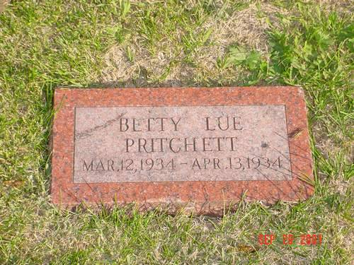 PRITCHETT, BETTY LUE - Pottawattamie County, Iowa | BETTY LUE PRITCHETT