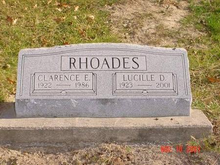 RHOADES, CLARENCE E. & LUCILLE D. - Pottawattamie County, Iowa | CLARENCE E. & LUCILLE D. RHOADES