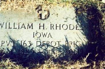 RHODES, WILLIAM H - Pottawattamie County, Iowa | WILLIAM H RHODES