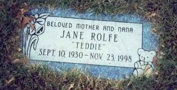 VAN BIBBER ROLFE, JANE - Pottawattamie County, Iowa | JANE VAN BIBBER ROLFE