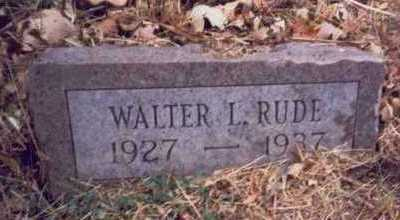 RUDE, WALTER L. - Pottawattamie County, Iowa | WALTER L. RUDE