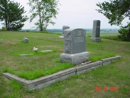 RUSH, DANIEL L. & LILLIE M. [PLOT] - Pottawattamie County, Iowa | DANIEL L. & LILLIE M. [PLOT] RUSH