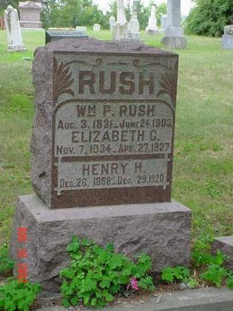 RUSH, WILLIAM R., HENRY H. & ELIZABETH C. - Pottawattamie County, Iowa | WILLIAM R., HENRY H. & ELIZABETH C. RUSH