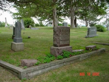 RUSH, WILLIAM R. & ELIZABETH C. [PLOT] - Pottawattamie County, Iowa   WILLIAM R. & ELIZABETH C. [PLOT] RUSH