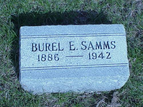 SAMMS, BUREL E. - Pottawattamie County, Iowa | BUREL E. SAMMS
