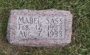 SASS, MABEL - Pottawattamie County, Iowa | MABEL SASS
