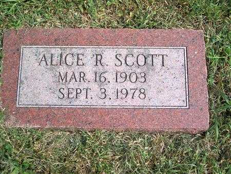 SCOTT, ALICE R. - Pottawattamie County, Iowa | ALICE R. SCOTT