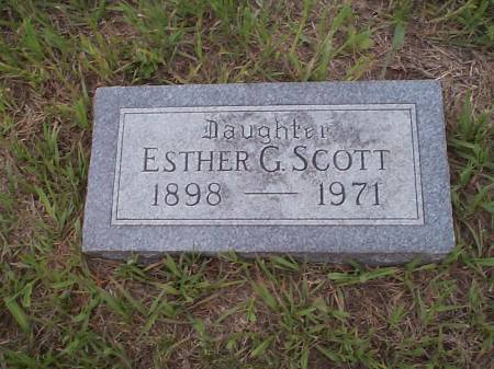 SCOTT, ESTHER G. - Pottawattamie County, Iowa | ESTHER G. SCOTT