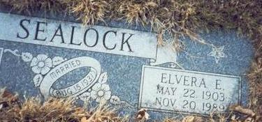 SEALOCK, ELVERA EMELINE - Pottawattamie County, Iowa | ELVERA EMELINE SEALOCK