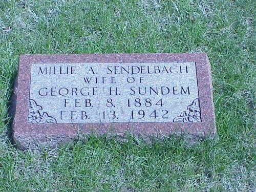 SENDELBACH, MILLIE A. - Pottawattamie County, Iowa | MILLIE A. SENDELBACH