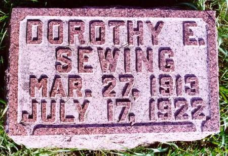 SEWING, DOROTHY E. - Pottawattamie County, Iowa | DOROTHY E. SEWING