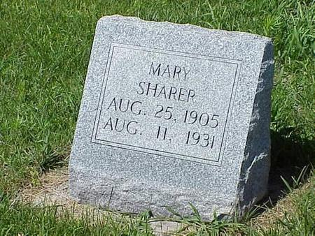 SHARER, MARY - Pottawattamie County, Iowa | MARY SHARER