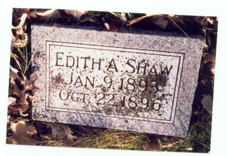 SHAW, EDITH A. - Pottawattamie County, Iowa | EDITH A. SHAW