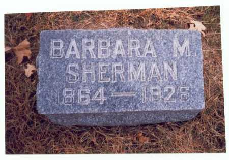 SHERMAN, BARBARA M. - Pottawattamie County, Iowa | BARBARA M. SHERMAN