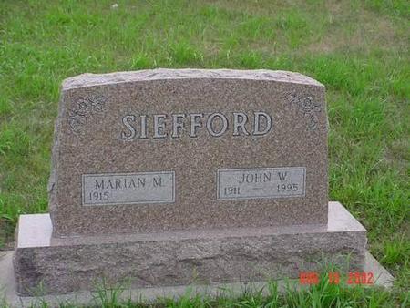 SIEFFORD, MARION M. & JOHN W. - Pottawattamie County, Iowa | MARION M. & JOHN W. SIEFFORD