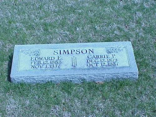 SIMPSON, EDWARD E. & CARRIE P. - Pottawattamie County, Iowa | EDWARD E. & CARRIE P. SIMPSON