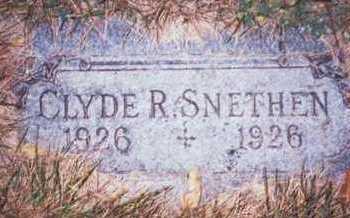 SNETHEN, CLYDE R. - Pottawattamie County, Iowa | CLYDE R. SNETHEN