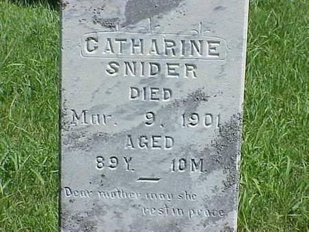 SNIDER, CATHERINE - Pottawattamie County, Iowa | CATHERINE SNIDER