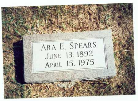 SPEARS, ARA E. - Pottawattamie County, Iowa | ARA E. SPEARS