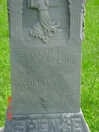SPENCE, ALLEN T. [INSCRIPTION] - Pottawattamie County, Iowa | ALLEN T. [INSCRIPTION] SPENCE