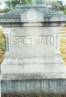 SPETMAN, FAMILY MARKER - Pottawattamie County, Iowa | FAMILY MARKER SPETMAN