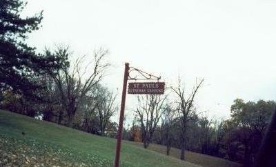 ST. PAUL'S LUTHERAN GARDEN, SIGN - Pottawattamie County, Iowa | SIGN ST. PAUL'S LUTHERAN GARDEN