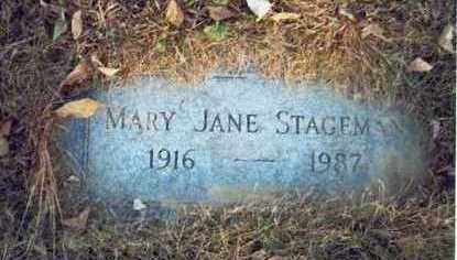 STAGEMAN, MARY JANE - Pottawattamie County, Iowa | MARY JANE STAGEMAN
