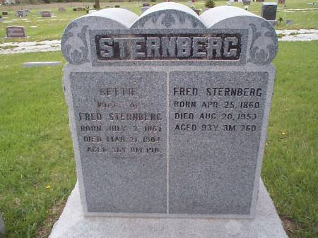 STERNBERG, BETTIE AND FRED - Pottawattamie County, Iowa | BETTIE AND FRED STERNBERG