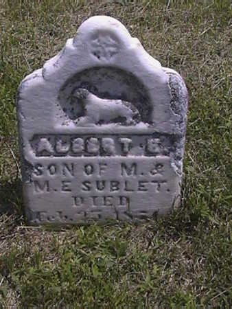 SUBLET, ALBERT . E - Pottawattamie County, Iowa | ALBERT . E SUBLET