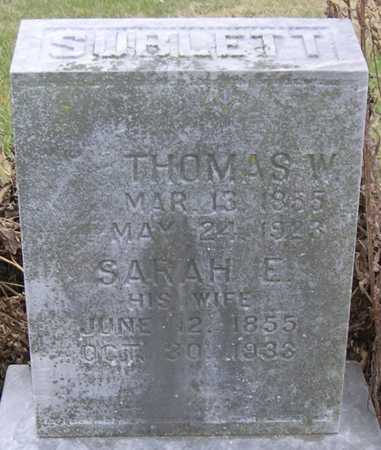 SUBLETT, THOMAS W. - Pottawattamie County, Iowa | THOMAS W. SUBLETT