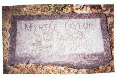TAYLOR, MYRTLE - Pottawattamie County, Iowa | MYRTLE TAYLOR