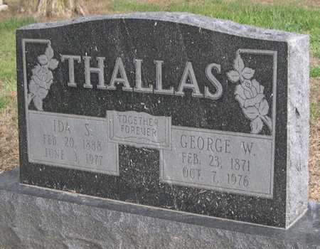 THALLAS, IDA S. - Pottawattamie County, Iowa | IDA S. THALLAS