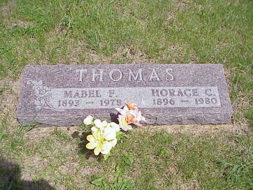 THOMAS, MABEL F. & HORACE C. - Pottawattamie County, Iowa | MABEL F. & HORACE C. THOMAS