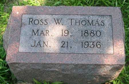 THOMAS, ROSS W. - Pottawattamie County, Iowa | ROSS W. THOMAS