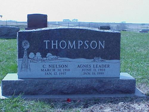 THOMPSON, C. NELSON & AGNES LEADER - Pottawattamie County, Iowa | C. NELSON & AGNES LEADER THOMPSON