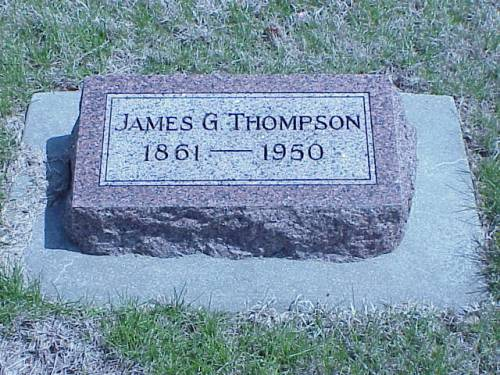 THOMPSON, JAMES G. - Pottawattamie County, Iowa | JAMES G. THOMPSON