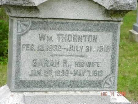 THORNTON, SARAH R. [INSCRIPTION] - Pottawattamie County, Iowa | SARAH R. [INSCRIPTION] THORNTON