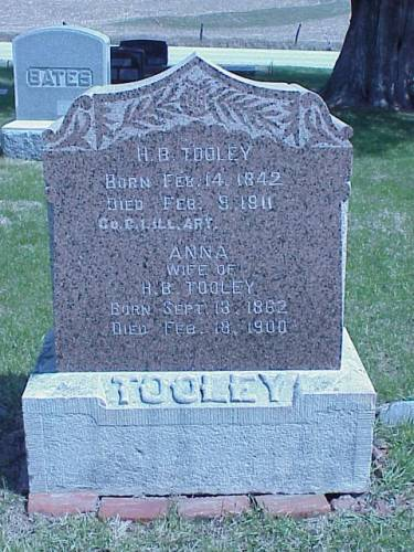 TOOLEY, HEADSTONE - Pottawattamie County, Iowa | HEADSTONE TOOLEY