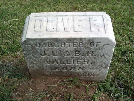 VALLIER, OLIVE F. - Pottawattamie County, Iowa | OLIVE F. VALLIER