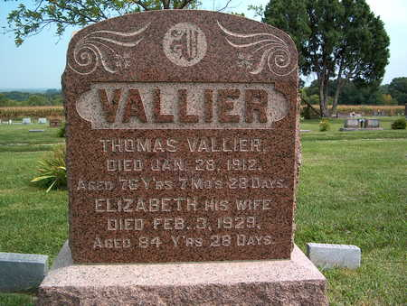 VALLIER, THOMAS - Pottawattamie County, Iowa | THOMAS VALLIER