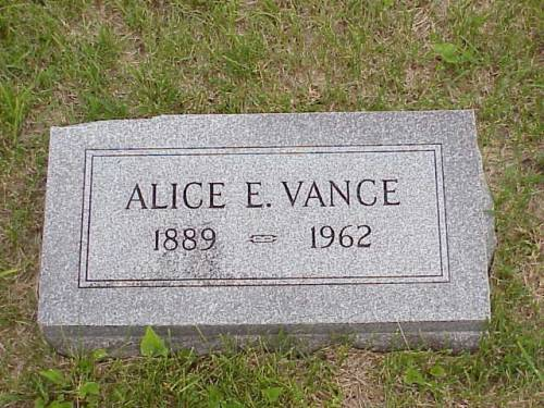 VANCE, ALICE E. - Pottawattamie County, Iowa | ALICE E. VANCE
