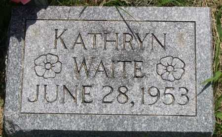 WAITE, KATHRYN - Pottawattamie County, Iowa | KATHRYN WAITE
