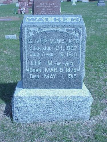 WALKER, OLIVER M. & LILLIE M. - Pottawattamie County, Iowa | OLIVER M. & LILLIE M. WALKER